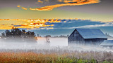 Barn In Misty Sunrise 20140916