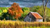 Little Autumn Barn P1000473 Art