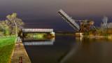 Scherzer Rolling Lift Bridge At Night 20141022