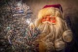Santa Behind The Tree P1040224-6