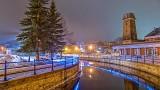 Holiday Tay River At Night P1040489-91