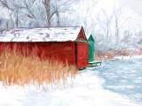 Boathouses On Ice 'Art' P1040567