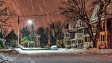 Snowy Night On Foster Avenue 20150112