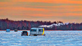 Ice Fishing At Sunrise 20150128