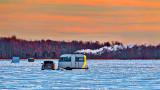 Ice Fishing At Sunrise 20150128