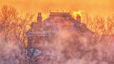 Kilt & Castle Beyond Canal Sunrise Mist 20150131