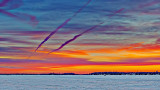 Sunrise Contrails 20150211