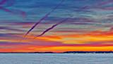 Sunrise Contrails 20150211