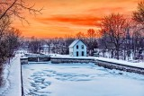 Merrickville Middle Lock At Sunrise 20150224