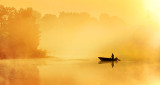 Foggy Sunrise Fisherman 45704-6