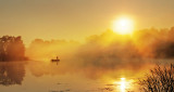 Foggy Sunrise Fisherman 45707-9