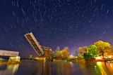 Scherzer Rolling Lift Bridge At Night 46167