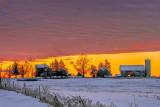 Winter Farm At Dawn P1000337-9