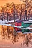 Boathouses At Sunrise P1030237-43