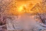 Misty Sun Rising Beyond A Railway Bridge P1020759-65