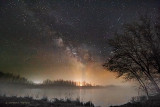 Milky Way Galactic Core Over Ground Fog 48230