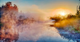Misty Irish Creek Sunrise P1080010-6