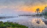 Misty Irish Creek At Sunrise P1070988-90