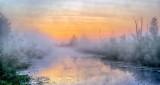 Irish Creek In Misty Sunrise P1080244-6
