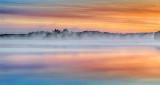Misty Big Rideau Lake At Sunrise P1110082