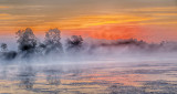 Sunrise Ground Fog & Mist P1110437-9