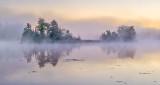 Island In Fog & Mist At Sunrise P1110678
