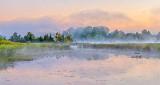 Misty Otter Creek At Sunrise P1110702-4