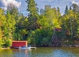 Longbow Lake Boathouse 20050913