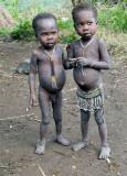 Surma children;  south-western Ethiopia.
