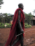 Surma man;  south-western Ethiopia.