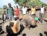 Funeral ceremony in the Gumuz village Dechegrre. Ethiopia.