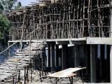 House construction in Lalibela. Ethiopia.