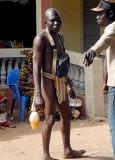Korhogo. Poro initiate during Poro celebration