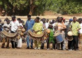 « FESTIMA, Festival des Masques ». Musicians accompanying the dancers from Benin.