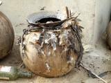 Fétich du devin et guérisseur Ba Zane (peuple Mossi) à Sena, Burkina Faso