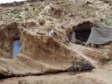 Habitations troglodytiques à Tifnit, Maroc.