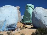 Les Rochers Peints à Tafraout, Maroc.
