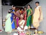 Ceremony for the bridegroom before the wedding;  Karnataka, India