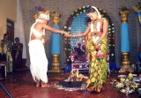 Walking around the holy fire; Wedding ceremony in Karnataka, India