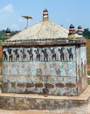 Gond memory pillar made of stone