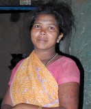 Baiga girl with typical tattoos