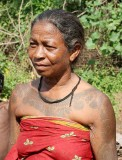 Birhor lady with tattoos