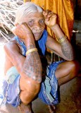 Paraja lady with tattoos