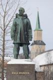 Roald Amundsen statue in Tromsø