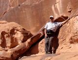 Peter Bowden exploring rock art.jpg