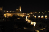 Tower of David Citadel - nighttime