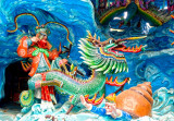 dragon warrior against sea snail