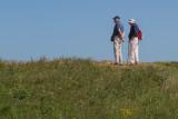 Promeneurs sur la falaise