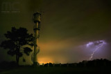 Lightning and tower