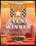 SHRA 2014 Event Winner Plaque